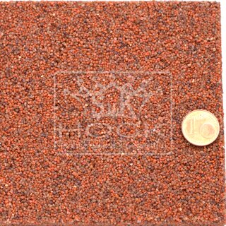Muster Steinteppich Coloritquarz Farbe Terracotta  0,8 bis 1,2 mm